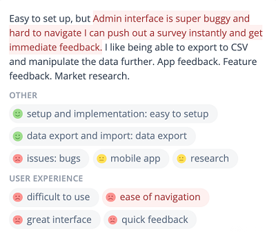 A survey tool review finds the admin interface is super buggy