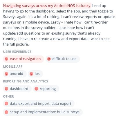 A survey tool review finds navigating surveys is clunky