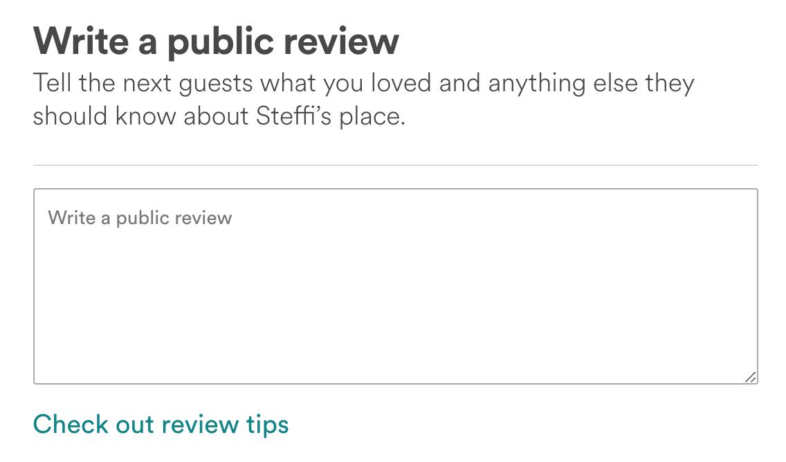 AirBnB feedback 3
