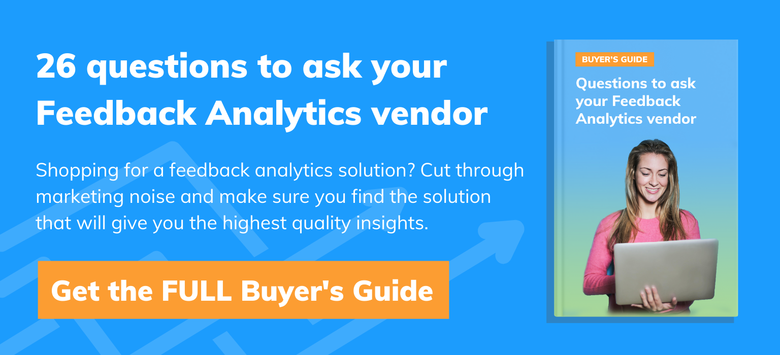 feedback analysis software buyer's guide features